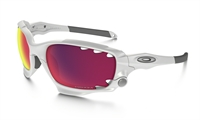 Oakley Racing Jacket Matte White w/ Prizm Trail & Persimmon Vtd